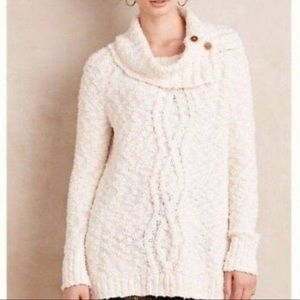 MOTH for ANTHROPOLOGIE Oversized Cowl-neck sweater